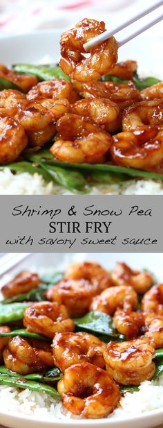 Shrimp and Snow Pea Stir Fry - an easy and delicious Asian seafood dinner meal! Shrimp and snow peas (or other vegetable!) stir fried in a flavorful sauce! #Asian #Chinese #stirfry #seafood #shrimp #dinner #easydinner #recipe #joyousapron Chinese Stir Fry, Asian Stir Fry, Chinese Food, Chinese Meals, Healthy Dinner Recipes, Cooking Recipes, Kitchen Recipes, Seafood Dinner, Dinner Meal