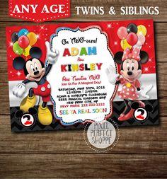 YOU CHOOSE Mickey Minnie Twins Birthday by PixelPerfectShoppe
