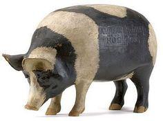 Carved Wood Pig, Advertising ?