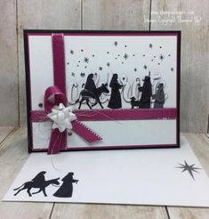 Stamps-N-Lingers. I used the Night of Bethlehem stamp set and the Celebrate You Thinlits (available free starting 3 Jan in the Sale-A-Bration flyer!) to make this elegant eclipse card. For free instructions on how to make this card, please visit my blog at: https://stampsnlingers.com/2017/12/12/stampin-up-celebrate-a-night-in-bethlehem-for-the-amys-inkin-krew-team-blog-hop/