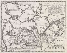 """1715 Lonhontan Map of the Great Lakes  and Upper Mississippi, used to determine the Northwest Passage by Robert Rogers,may incorporate the first use of the word root of Oregon - to Abenaki term """"wauregan"""" meaning """"good"""" or """"beautiful""""to refer to the Ohio River. Hudson's Bay being confused for the Pacific Ocean by Bartholomew De Fonte, a """"great River Origan discharges into it."""" from Lake Winnipeg to Dobson's Point"""