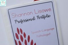 """I recently went to an interview for a speech language pathologist position in a great district. While on the phone prior to the interview, the woman said, """"Feel free to bring anything you'd like to show the interview panel!"""" Panic. What do I bring?! So, I took to Pinterest and found tons of great portfolio …"""