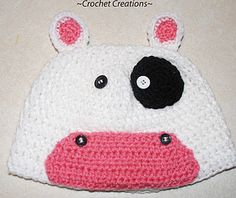Cow, Frog, Polar Bear, Red Angry Bird, Lightning McQueen, Snoopy, Rudolph, Pig, Duck, Horse, Monkey, and Zebra hat patterns