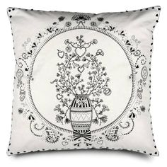 Lovin' this Miss Blackbirdy line.  The embroidery and detail on this pillow cover are amazing!  Thanks for stopping by...and make sure to LIKE our page if this is your first visit!