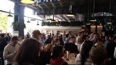 Greenmarket Brunch with Geoffrey Zakarian - The crowd at the Standard Biergarten