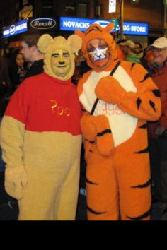 Pooh and tigger couple costume