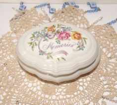 Avon trinket box  Vintage jewellery box  by MYHIGHSTREETBOUTIQUE, $18.00