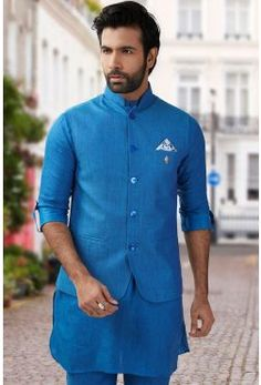 Waistcoat Set for Men - Let you look smart and dashing in waistcoat set. Buy Online Men's Waistcoat Set for Festive Season in India at Best Prices at Fashion. Mehndi Dress For Mens, Raymond Suit, Pathani For Men, Mens Suits Online, Western Suits, Men's Waistcoat, Festival Wear, Festival Shop, Tuxedo For Men