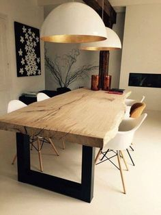 Gorgeous Farmhouse Dining Room Design Ideas – Best Home Decorating Ideas Dining Room Design, Dining Room Table, Dining Rooms, Kitchen Dining, Kitchen Lamps, Table Lamps, Scandinavian Interior Design, Modern Interior, Home And Living