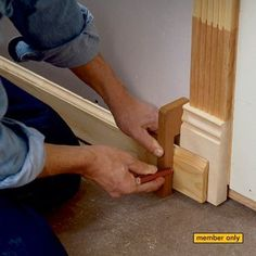 Woodworking Tips 7 Trim Carpentry Secrets Woodworking Shop, Woodworking Crafts, Woodworking Plans, Woodworking Furniture, Popular Woodworking, Woodworking Techniques, Wood Furniture, Woodworking Jigsaw, Woodworking Tutorials
