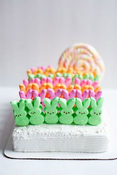 Homemade Peeps Cake
