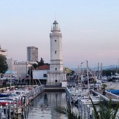 The lighthouse in Rimini's harbor - Instagram by motravels