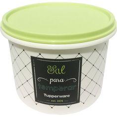 Caixa Sal 1kg Bistrô Branco Tampa Verde - 800435 - Tupperware