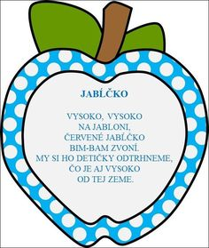 Jablko Apple Activities, Classroom Labels, Fall Decor, Decoupage, Preschool, September, Jar, Education, Fruit