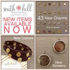 #southhilldesigns #charms #lockets New goodies from South Hill! Come check out the goodies: www.locketcharmer.com