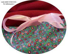 Stoffpakete - Stoffpaket♥Loop♥DIY Streublumen rot -Winter + - ein Designerstück von kreawusel-aufgehuebscht bei DaWanda