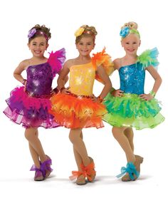 17738 - Mi Oh My colors: 57 Purple, 58 Turquoise, 61 Yellow by A Wish Come True Dance Recital Costumes, Girls Dance Costumes, Jazz Costumes, Ballet Costumes, Dance Outfits, Dance Dresses, Kids Outfits, Girls Dresses, Dance Fashion