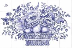 Tile This is for our navy/honey oak/ stainless steel kitchen backsplash Buying Baby Clothes Online A White Tile Backsplash, Kitchen Backsplash, Backsplash Panels, Backsplash Ideas, Rock Design, Tile Design, Delft Tiles, Tile Covers, Art Nouveau Tiles