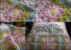 #crochet #grannysquares #cushion #handmade by me Projects To Try, Cushions, Blanket, Crochet, Handmade, Throw Pillows, Toss Pillows, Hand Made, Pillows