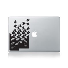 Escher Fish to Birds Macbook Sticker #design #macbook #macbookstickers #pimpmymacbook #decals #stickers #vinyl #DIY #laptop #escher #birds #fish #opticalillusions