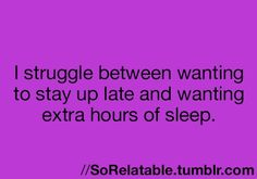 Staying up vs extra sleep