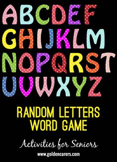 Here is another Brain Game to boost memory and reasoning skills. This one involves finding the largest word possible from seven random letters. Word Brain Games, Word Games, Best Brains, Neon Signs, Names, Memories, Activities, Random, Words