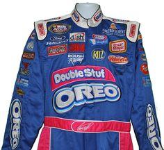 GREG BIFFLE NASCAR DOUBLE OREO SIGNED DRIVER SUIT DAYTONA AND OREO COMMERCIAL