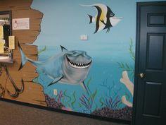 Fabulous Model of Pediatrician Office: Wonderful Underwater Pediatrician Office Shark And Nemo Fish Decor ~ rodican.com Office Designs Inspiration