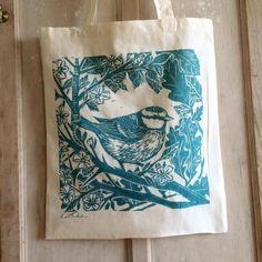 lino block printing on fabric by lou tonkin