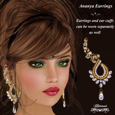 Love the earrings. https://marketplace.secondlife.com/p/Glitterati-Ananya-Earrings-with-Ear-Cuffs-Diamond/5866812