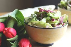 Salada de Pepino e Maçã Verde