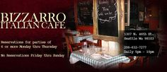 Seattle, WA - Triple D -  Bizzarro Italian Cafe