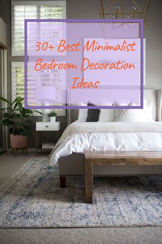 30+ Best Minimalist Bedroom Decoration Ideas #bedroom #bedroomdecoration #bedroomdecorationideas Bedroom Design Trends, Bedroom Themes, Modern Bedroom, Minimalist Bedroom, Modern Bedroom Design, Master Bedrooms Decor, Bedroom Diy, Girls Bedroom Furniture, Remodel Bedroom