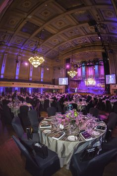 Melbourne Town Hall was a gorgeous shade of purple for Bank of Melbourne's anniversary dinner! #venues # events