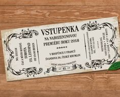 Retro Pozvanka Na Oslavu Vstupenka Pictures Birthday Invitations, Presents, Retro, Create, Gifts, Pictures, Photos, Favors, Favors