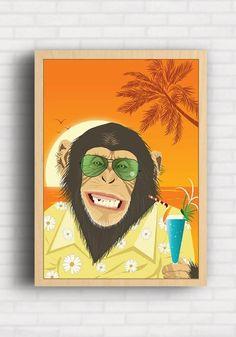 Poster Macaco Beach - Artista Alex Guenther AG011