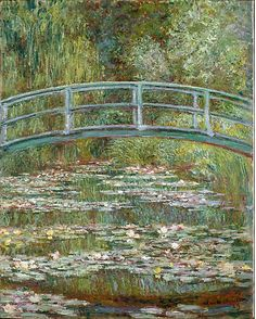 Bridge over a Pond of Water Lilies  Claude Monet  (French, Paris 1840–1926 Giverny)