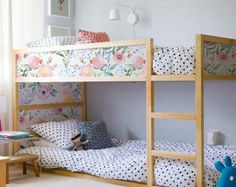 Decals for Kura Bed Ikea Dreamy floral Sticker Set PACK OF 5 Garden sticker for Childrens Bed Adhesive WatercolorRepositionable - Air Bed - Ideas of Air Bed - Kura Bed Ikea Dreamy floral Sticker Set PACK OF 5 Garden Bunk Beds With Stairs, Kids Bunk Beds, Casa Kids, Ikea Nursery, Nursery Decals, Ikea Kura Bed, Modern Bunk Beds, Murphy Bed Ikea, Bunk Bed Designs