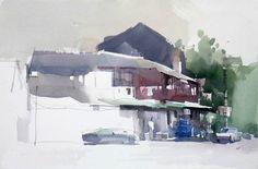 Zhao Zhiqiang's watercolor.