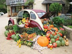 this photo of this amazing little vege car is from http://www.diggers.com.au/events-education/festivals/heronswood.aspx