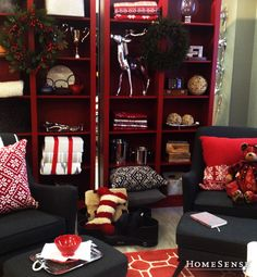 The pillows add a Scandinavian pop! My Christmas Wish List, Beautiful Christmas, Christmas And New Year, Christmas Holidays, Christmas Ideas, Christmas Decorations, Homesense, Daily Workouts, Holiday Gifts