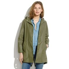 Rainstorm Jacket, $138 @ Madewell    We hope rainy days are few and far between this spring and summer, but on the rare occasion that the weather is a little wet, don Madewell's old-school raincoat. No shower could soak this PVC/cotton jacket, and the classic, no-frills style will protect you for (rainy) seasons to come.