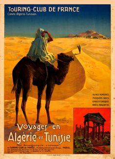 Algeria Tunisia Touring Club of France 1910 - original antique poster by Henri Polart listed on AntikBar.co.uk