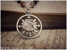Gothic Steampunk Necklace by SKAIOR Designs