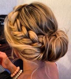 peachy bridesmaid updo