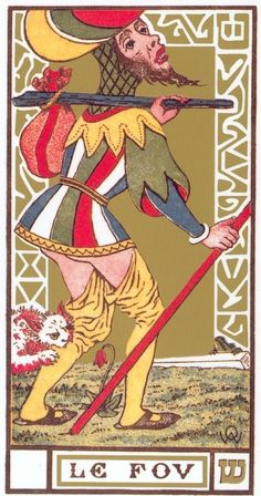 00 - El Loco TAROT DE OSWALD WIRTH - 1889