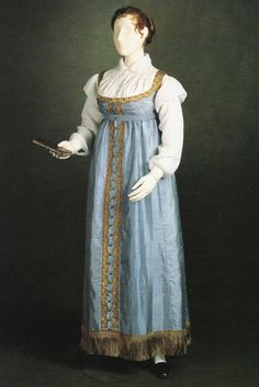Princess Charlotte's gown, circa 1817. It has faded considerably since she wore it for her portrait.