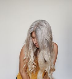 Grow Out, Other Woman, Grey Hair, Long Hair Styles, Photo And Video, Silver, Inspiration, Beauty, Instagram