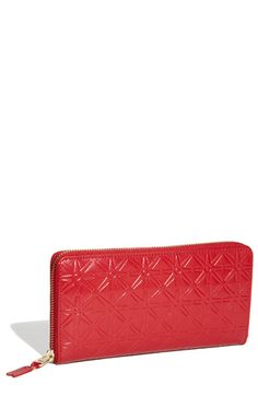 Women's Comme des Garcons Continental Long Wallet - Red