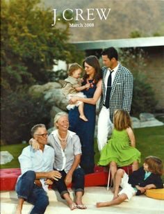 Inspiration for big family portrait in October.  Love the navy, white and gray with pops of color.  Not too matchy-matchy.